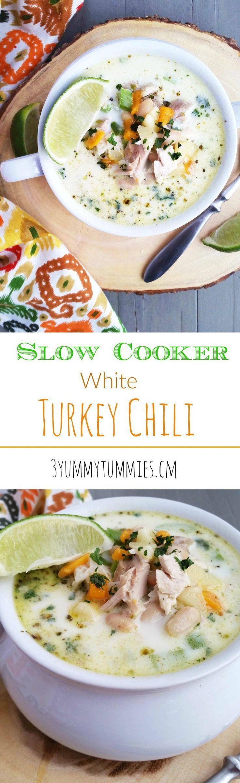Slow Cooker White Turkey Chili