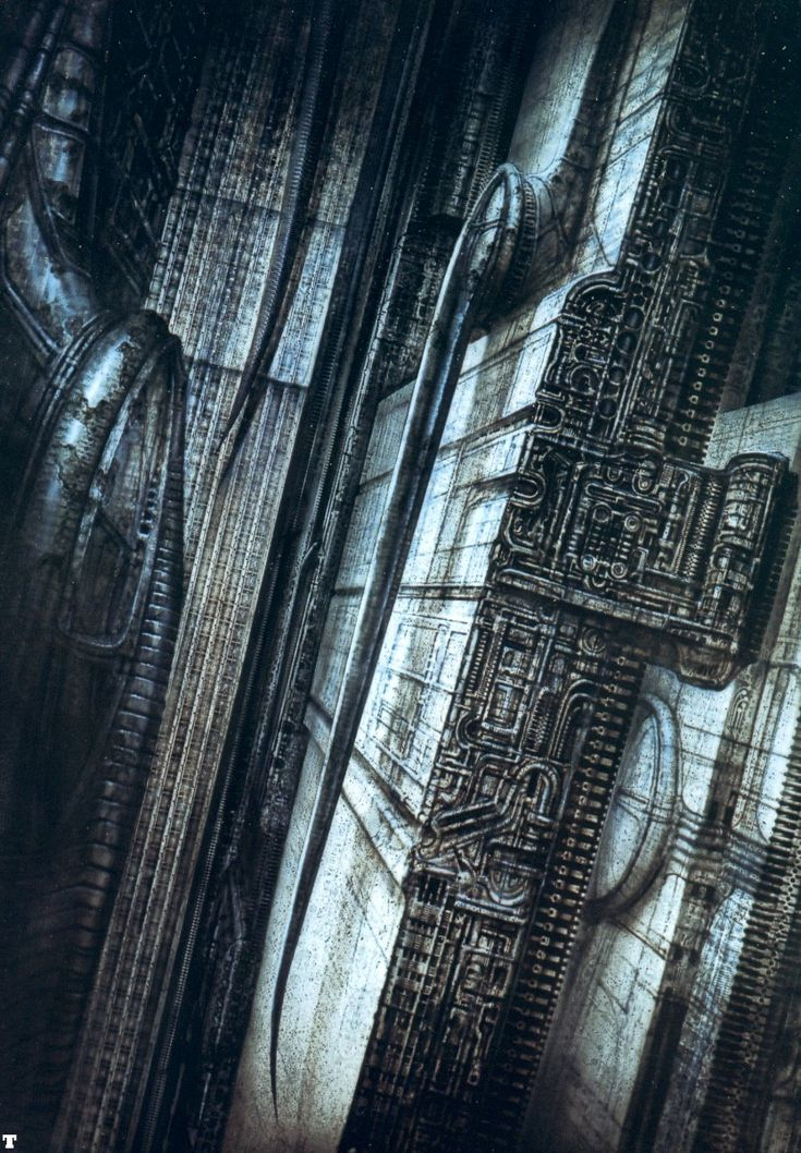thusreluctant:    New York City VIII. by H.R. Giger