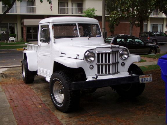 1955 Willys With A Old Chevy 350 V8 And A Bench Seat Only