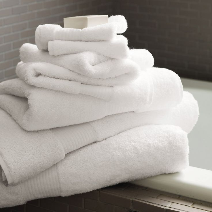 "White Egyptian Cotton Towels - Towels | The White Company Would love all-white towels in master and guest baths.  Will probably keep darker towels in the ""man"" bathroom."