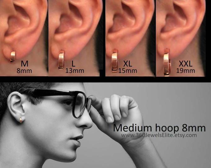Gold Hoop Earrings Solar Yellow Gold Hoops Men S Etsy In 2020 Gold Hoop Earrings Gold Hoops Earrings Large Small Gold Hoop Earrings