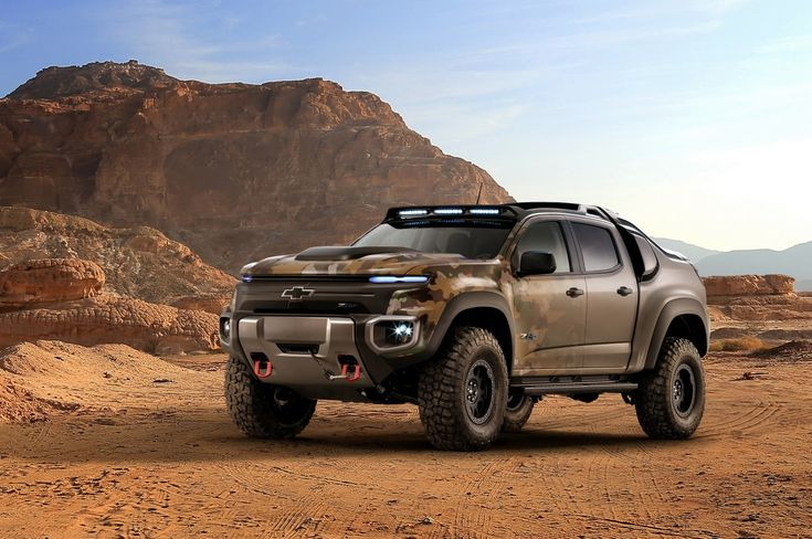 Chevy Created This Badass Colorado ZH2 Fuel Cell Vehicle For The US Army