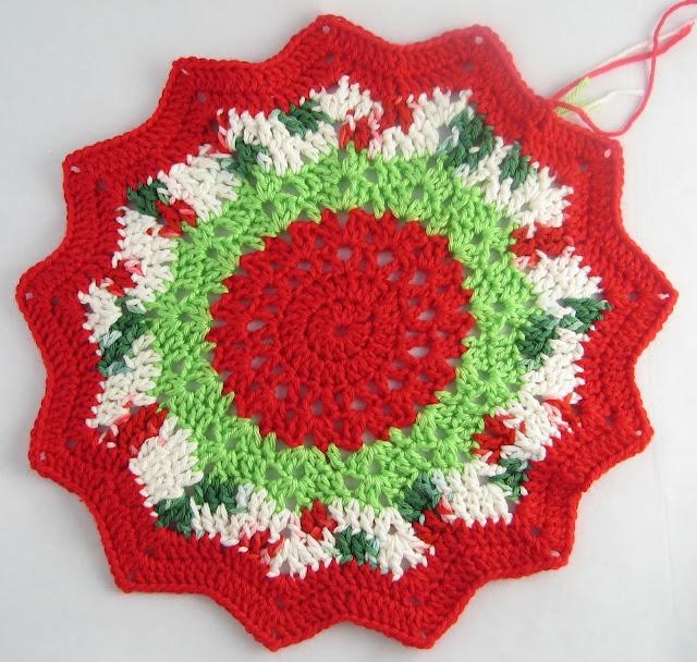 Christmas round ripple agarraderas pinterest for Tejidos decoracion hogar