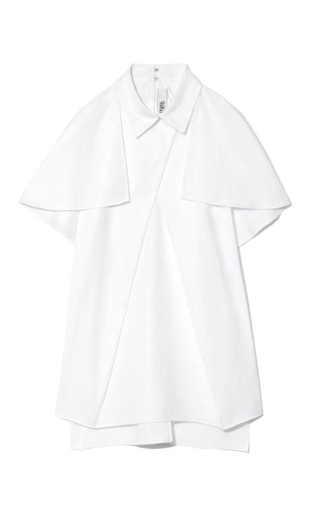 The chicest thing -- Draped Front Capelet Blouse by Prabal Gurung - Moda Operandi