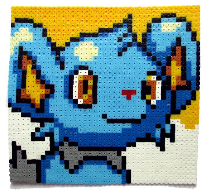 Pokemon Shinx perler bead portrait by AenysBeadArt on Etsy