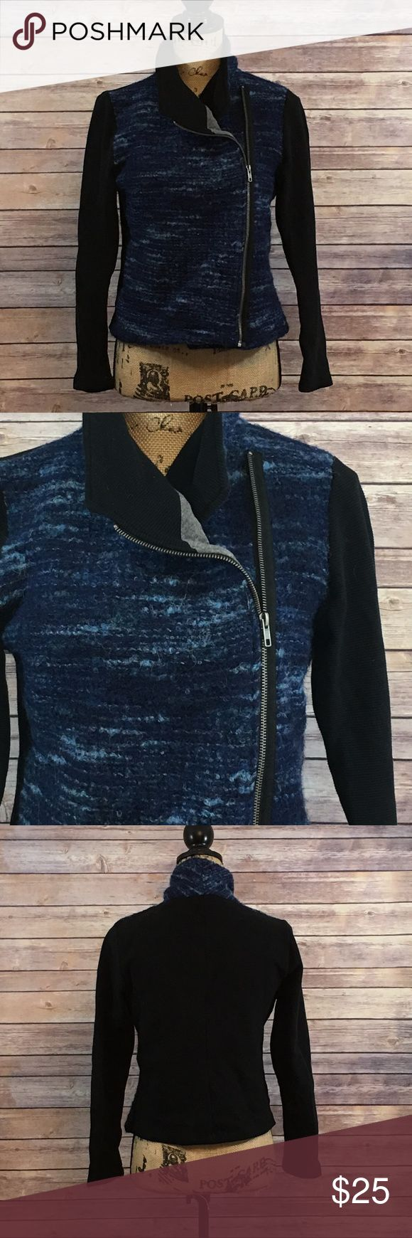 Dolan Left Coast Collection Jacket Anthropologie Size Large Dolan Left Coast Collection Jacket Blue and Black Blue area is virgin wool In excellent condition No signs of wear or fading Anthropologie Jackets & Coats