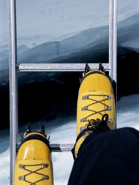 Looking into the abyss of the Khumbu Icefall