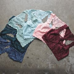 racer back all over scalloped lace bralette (6 colors)