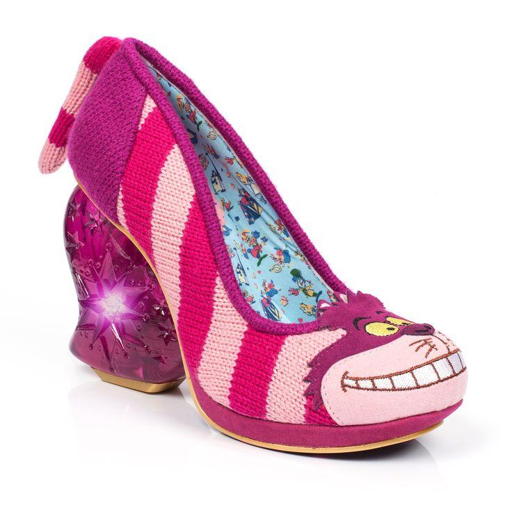 Buy women's Irregular Choice Alice in Wonderland shoes online from Millars  Shoe Store, Alice In Wonderland Cheshire Cat Heels