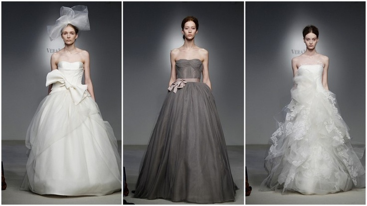 Abiti da sposa proposti da Vera Wong per la primavera estate 2012.