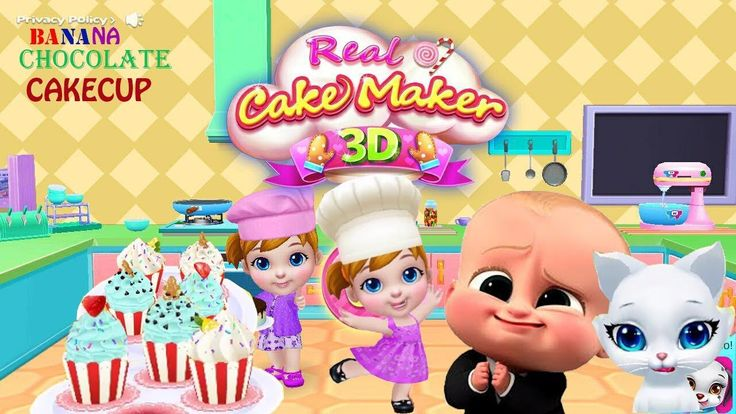 Cooking Games For Kids To Play-Maker Banana Chocolate Cupcake-Baby Boss ...