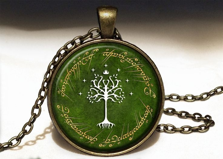 TREE OF GONDOR Big Necklace, LOTR Pendant, 0529PB from EgginEgg by DaWanda.com