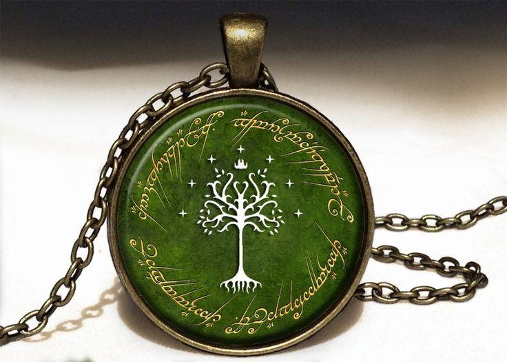 TREE OF GONDOR Big Necklace, LOTR Pendant, 0529PB from EgginEgg by DaWanda.com