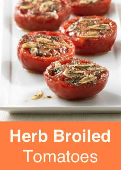 Herb Broiled Tomatoes Vegetable Side DishesVegetable RecipesVegetarian