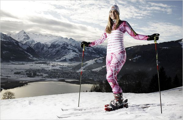 Lindsey Vonn is a fighter, a snow skiing warrior, and lovely woman!