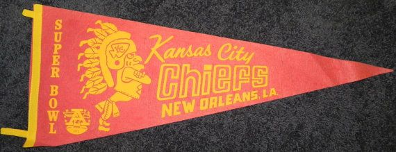 Kansas City Chiefs Super Bowl IV AFC Football by AntiqueSportsShop