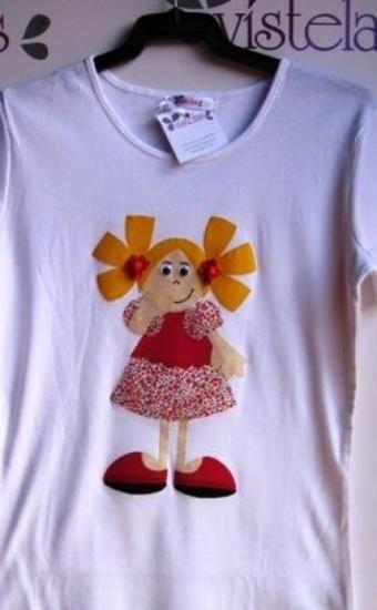 Camiseta Vistelas. Fofucha para niña