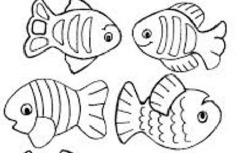 free small fish coloring pages | Small fish coloring pages | Sunday School | Pinterest