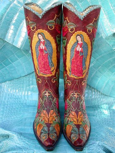 "Our Lady of Guadalupe~ I fell in love with all things  ""Lady of Guadalupe"" while working in Mexico. These boots are gorgeous! Love 'em :)"