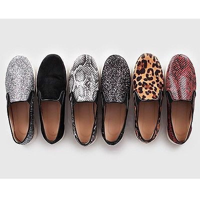Womens Slip on Sneakers Low Cut Shoes Animal Print Leopard Snake Trainers | eBay
