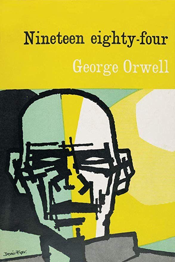 Amazon Com Art Bibliophile Nineteen Eighty Four Canvas Print 12x8 Posters Prints Nineteen Eighty Four Eighty Four Book Jacket
