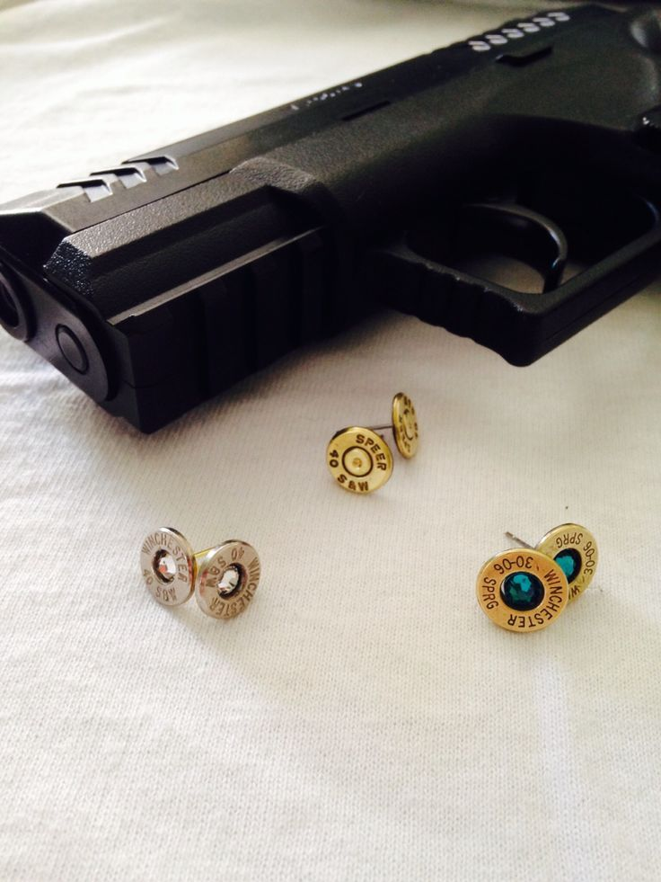 Bullet Stud Earrings by Center Fire Jewelery. Variety if calibers and colours to choose from!! Check out our website for more!! centerfirejeweller.wix.com/bullets