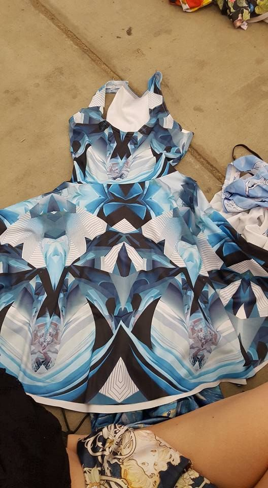 Unreleased abstract skater dress