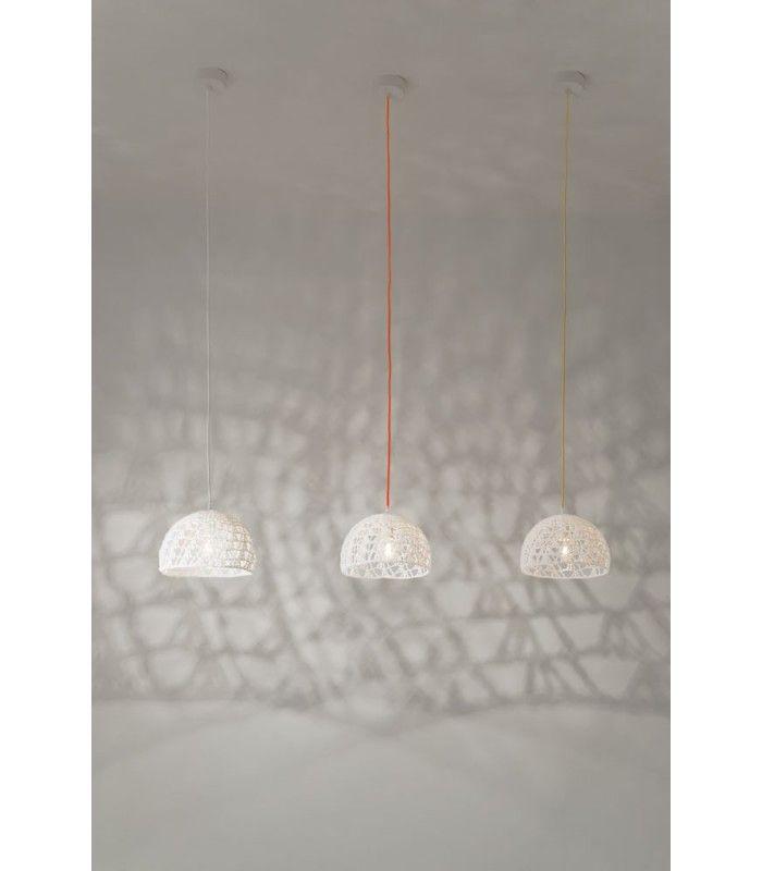 In-es.artdesign - lampada a sospensione Trama 2 #inesartdesign #artdesign #nebulite #design #lamp #suspensionlamp #trama #wool #chandelier