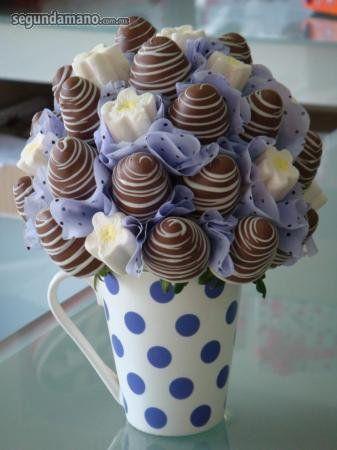 ramo de fresas con chocolate - Buscar con Google