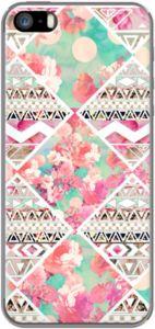Case Roze Bloemen Aztec Aquarel Checker patroon door Girly Trend