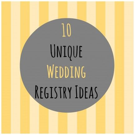 Unique Wedding Gifts Not On Registry : Wedding Gift Registry on Pinterest Wedding registry list, Wedding ...