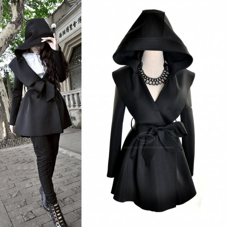 European Style Hooded Trench with Belt