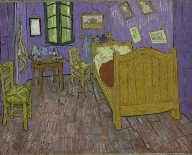 Van Gogh's bedroom gets digital makeover. Scientists in Chicago have produced a visualisation of Van Gogh's Bedroom in Arles, showing what it would have looked like before its colours faded.