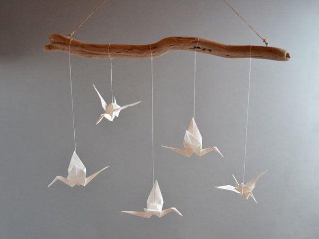 Cute Traumf nger u Mobiles Origami Mobile Kranich wei transparent ein Designerst ck von