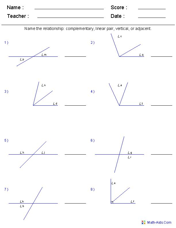 Printables Angle Pairs Worksheet angle pairs worksheets hypeelite the o 39 jays math and geometry on pinterest
