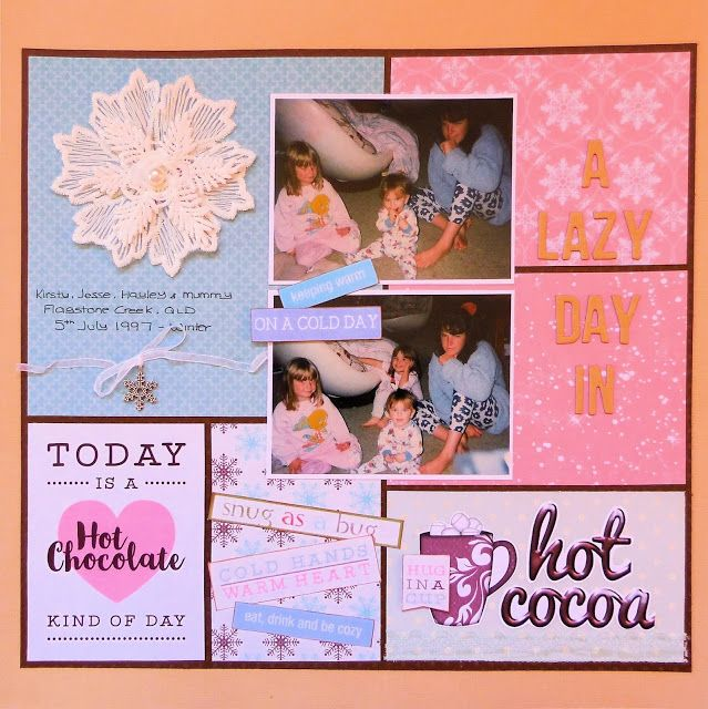 Lisa's layout using the July 2017 Kit from Scrapping Fun Kits.