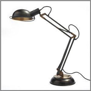 I641 - STUDIO DESK LAMP - BRASS & ANTIQUE BRONZE