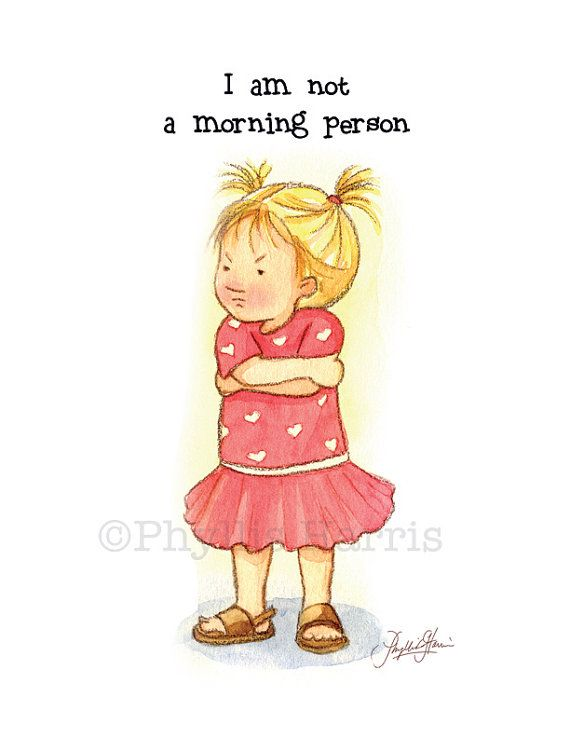 Wall art Not a morning person toddler by PhyllisHarrisDesigns, $25.00
