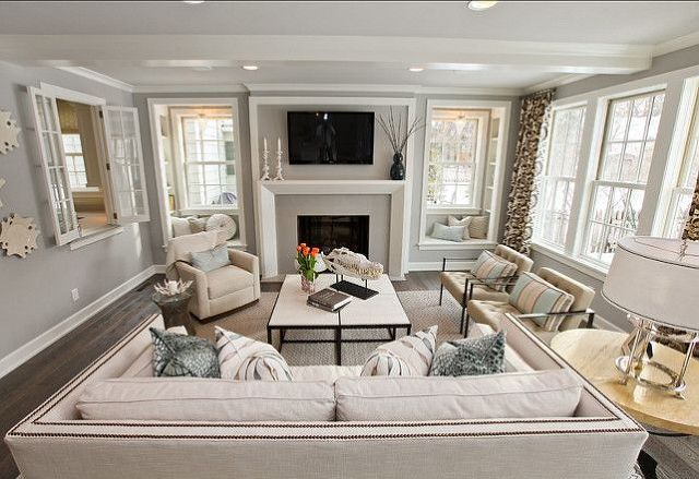 Best Grey Paint Colors For The Home Family Room Fireplace 400 x 300