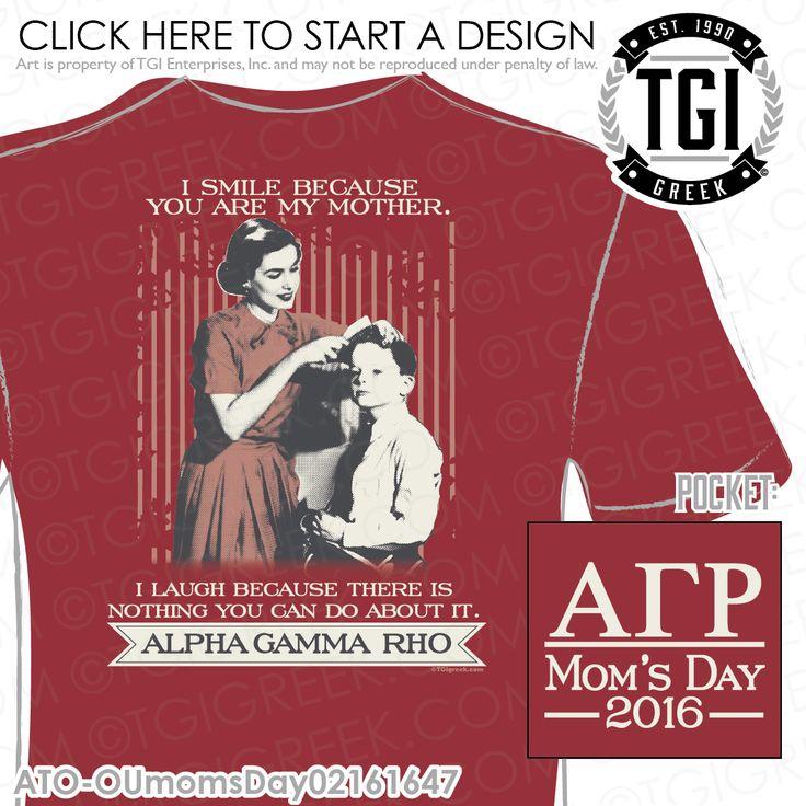 TGI Greek - Alpha Gamma Rho - Mom's Day - Greek Apparel #tgigreek #alphagammarho