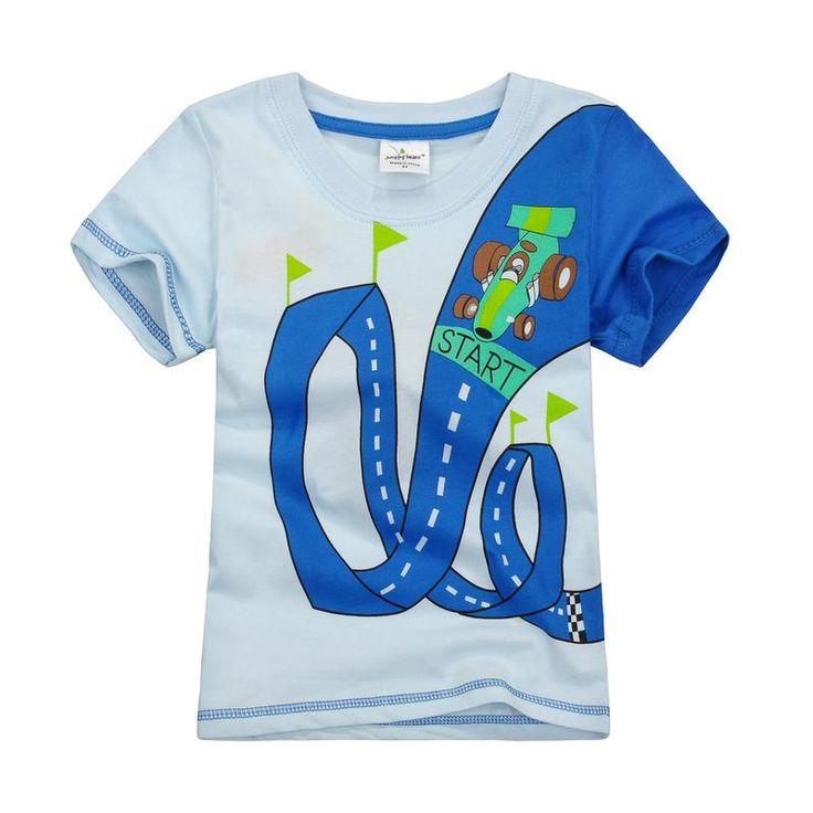 Jumping beans cotton kids baby infants boy short sleeve t-shirt race road tee