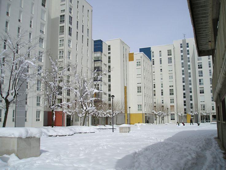Días de nieve en Burgos, España