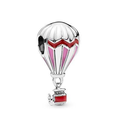 PANDORA Red Hot Air Balloon Charm – Enamel / Sterling Silver / Pink