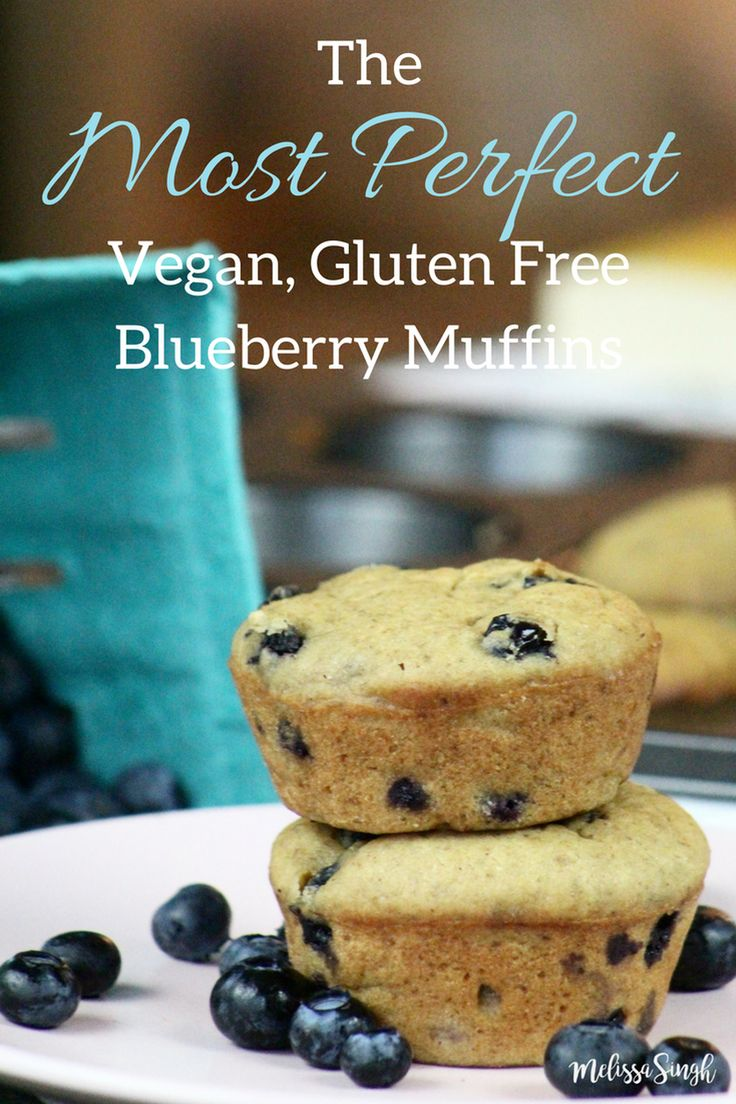 The Most Perfect Vegan, Gluten Free Blueberry Muffins