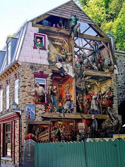 428 best graffiti e ilusi n images on pinterest urban for Mural quebec city