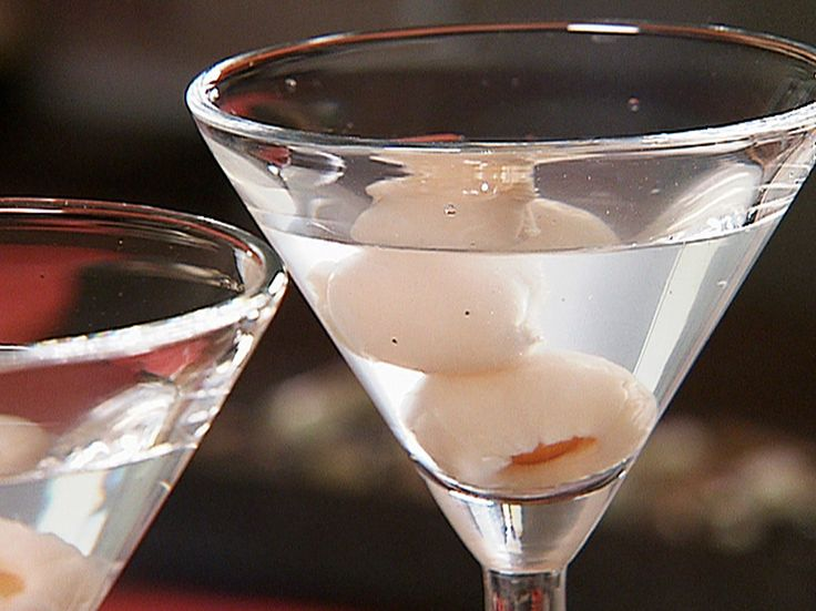 Lychee Martini - Ice Cubes, 6 oz. Vodka, 4 oz. Lychee Juice, Splash Vermouth, 2 Lychees for garnish.  In a cocktail shaker filled with ice add vodka, lychee juice and vermouth.  Shake until chilled. Pour into 2 martini glasses & garnish with lychees.