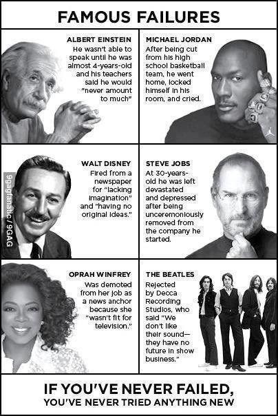 famous failures                                                                                                                                                     More