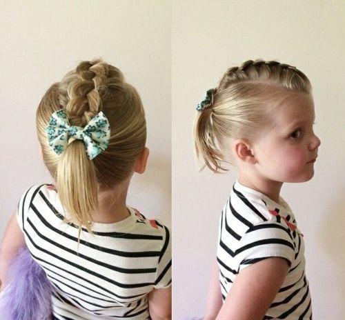 coiffure bébé fille tresse et queue de cheval Cheveux
