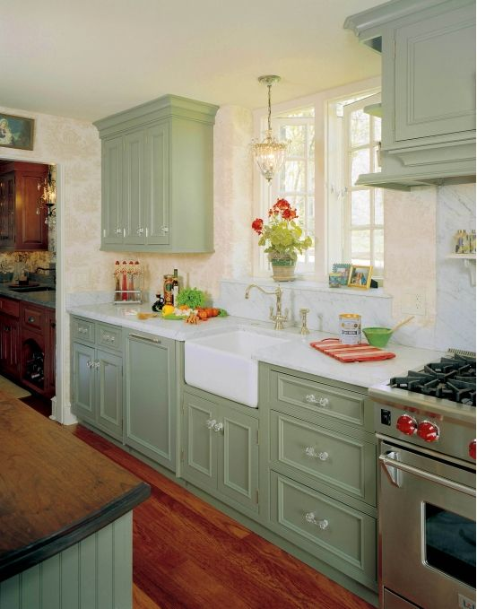 Sage Green Kitchen Cabinets Painted 100 best country kitchen images on pinterest | home, country