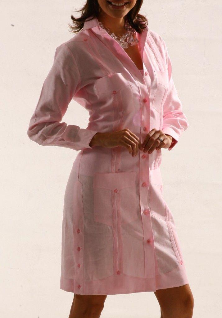TRAJE GUAYABERA 100% LINEN | Camisas | Dresses, Fashion y ...